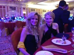 San Juan Capistrano resident Sharon Savoy with actress Nicole Kidman during the 10th annual Huading Awards in Macao, China, where Savoy won the Best Global Female Dancer award. Photo by Mike Tuttle