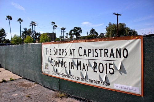 Landowner Gretchen Stroscher Thomson is proposing to build The Shops at Capistrano, a 41-square-foot shopping center, on the corner of El Camino Real and Ortega Highway. Photo by Brian Park
