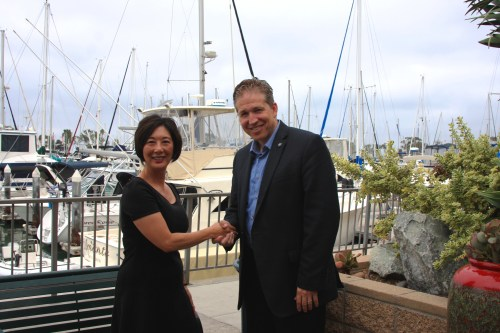 Orange County Fifth District Board of Supervisors candidates Lisa Bartlett and Robert Ming attended a community forum on Friday, Aug. 22 at Dana Point Harbor. Photo: Andrea Swayne