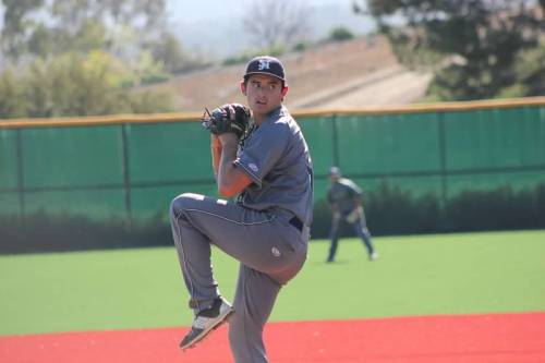 Senior pitcher Nick Hernandez will lead the San Juan Hills High School baseball rotation in 2016. Photo: Courtesy