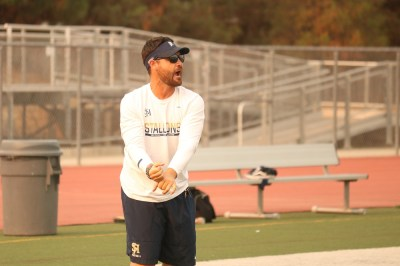 Coach Rob Frith enters his first season at the helm of San Juan Hills. Frith was known for the spread offense as head coach of El Toro. Photo: Zach Cavanagh