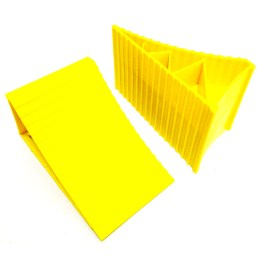 caravan accessories wheel chock yellow