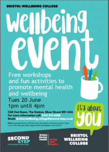 Bristol Wellbeing College Event Fun Activities To