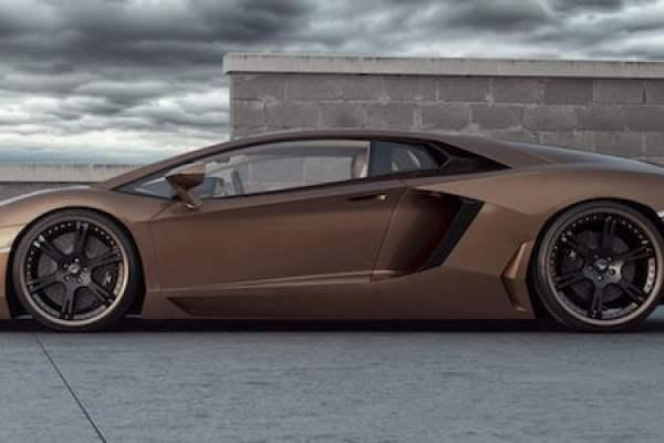 Custom alloy wheels can improve almost any car - even this Lamborghini Aventador - a true supercar