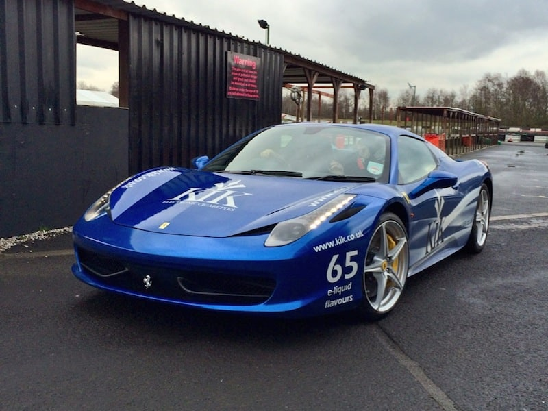 Ferrari 458 Spider at the KIK e-cigarette launch event