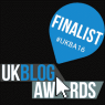 UK Blog Awards 2016 Finalist