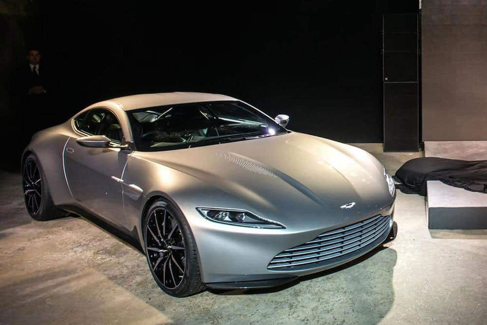 Aston Martin DB10 concept car for 007 James Bond unveiled at Spectre launch in 2014