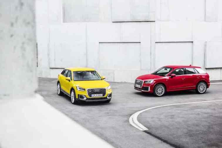 Two Audi Q2 models