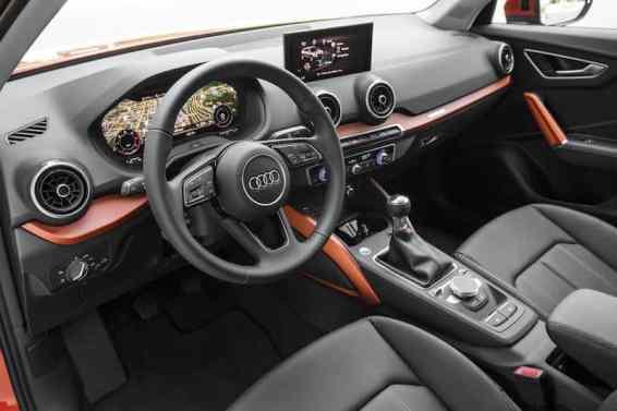 Audi Q2 interior, left-hand-drive, Virtual Cockpit