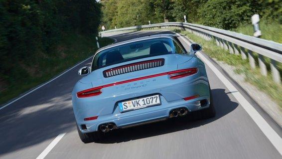 Porsche 911 Targa 4S Exclusive Design Edition, rear view