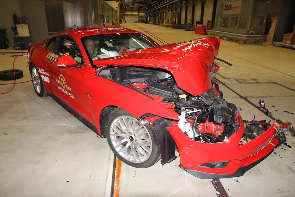 Ford Mustang two-star Euro NCAP crash test result