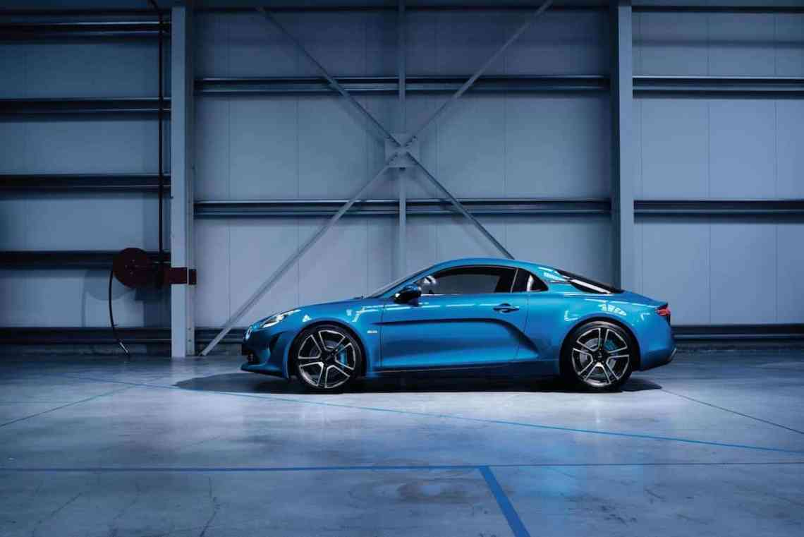 The new Alpine A110 is available in Blue, Black and White.