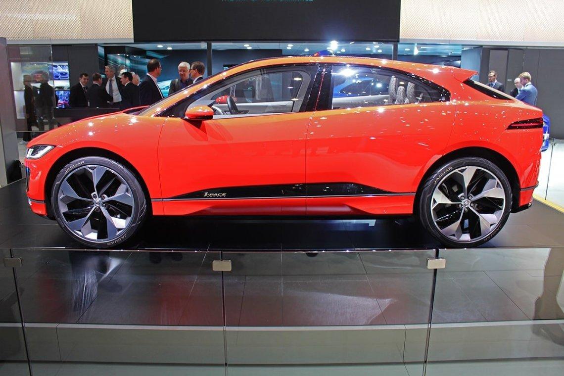 electric Jaguar i-Pace side