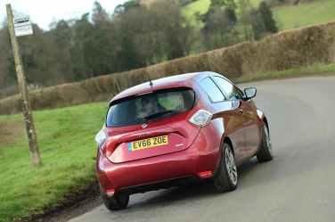 Renault ZOE rear on road