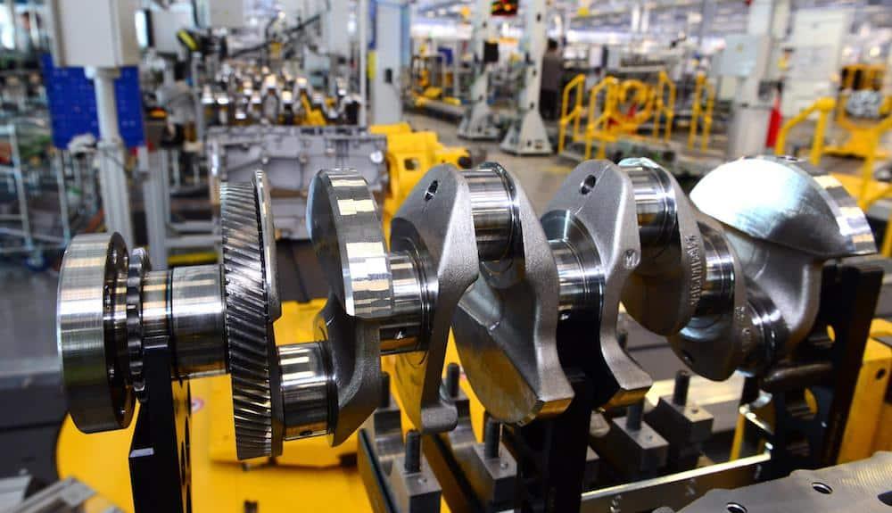 JLR Ingenium engine crankshaft in the Engine Manufacturing Centre