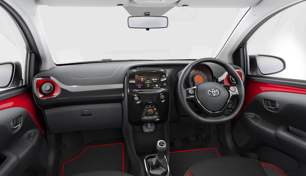 Interior of Toyota Aygo x-cite