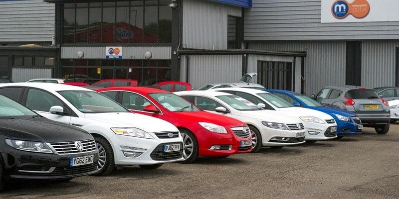 Used car dealership forecourt