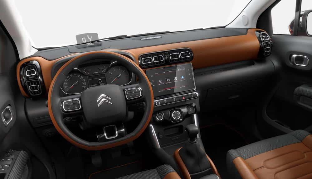 Interior of Citroen C3 Aircross