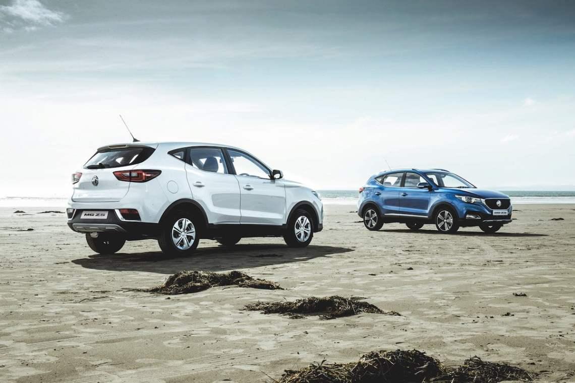 MG ZS on the beach - The Car Expert
