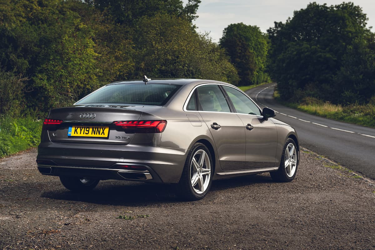Audi A4 saloon (2019) - rear | The Car Expert