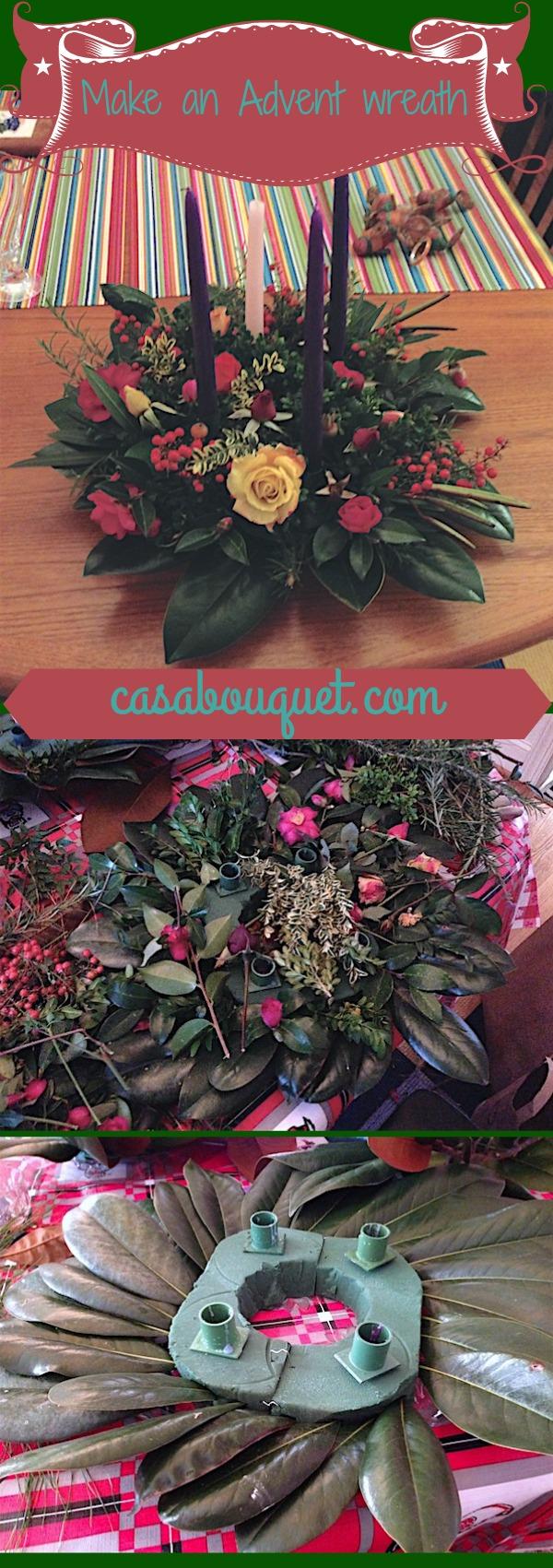 make an advent wreath casa bouquet