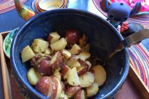 Potato salad savory Russian style