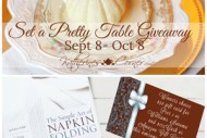 Set a Pretty Table Giveaway is a chance to win things for your table from my circle of blogger friends. Giveaway begins September 8, ends October 8, 2017.