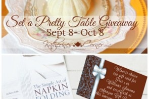 Set a Pretty Table Giveaway – gift cards, napkin folding