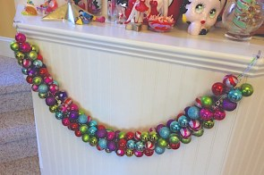 Christmas garland – ornament swag Christmas craft