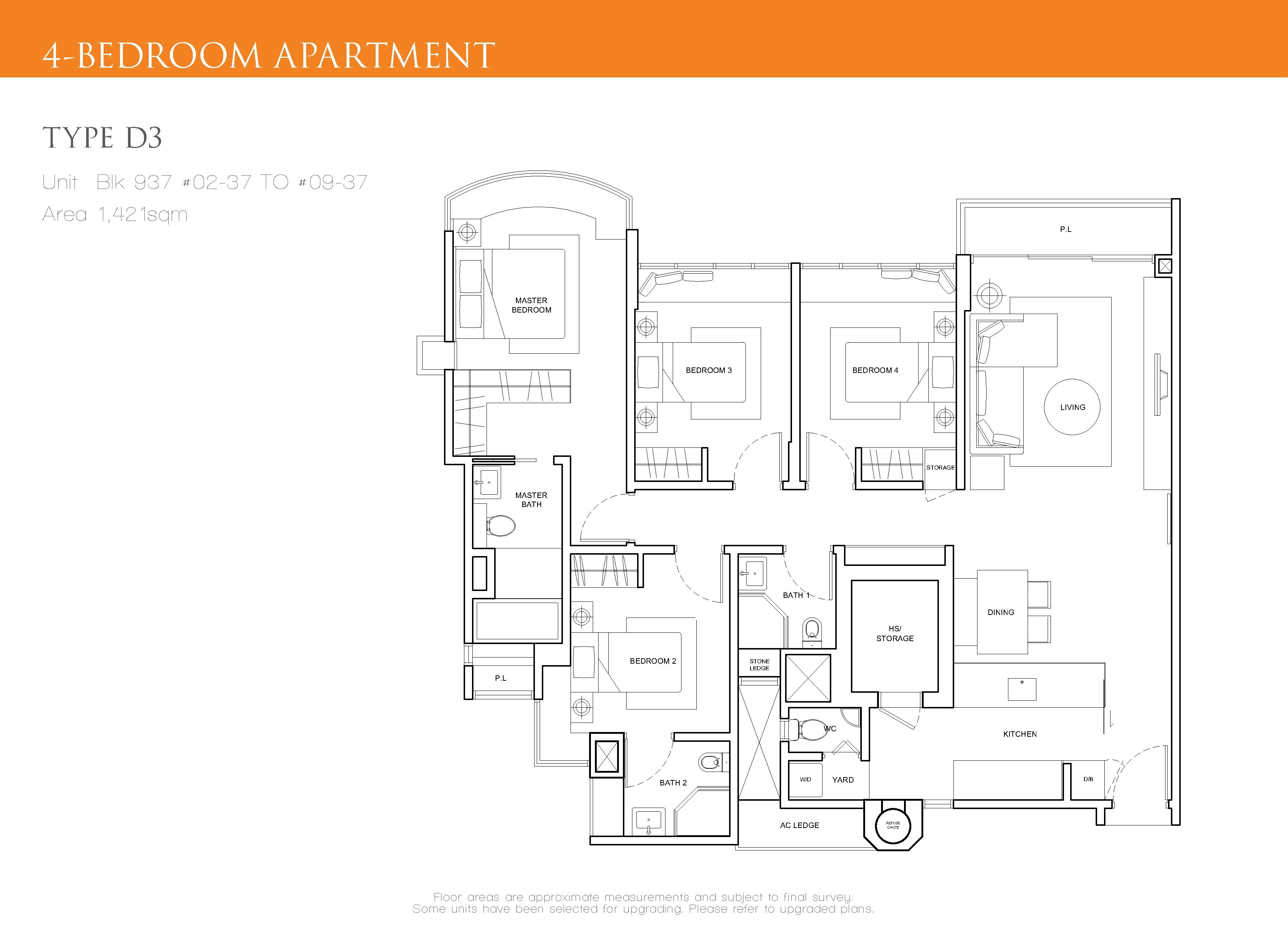 The Cascadia 4 Bedroom Floor Plan Type D3