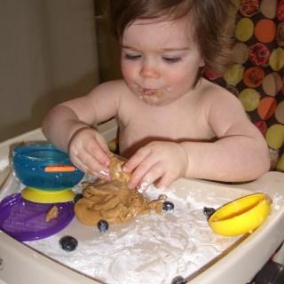 Peanut butter play dough!