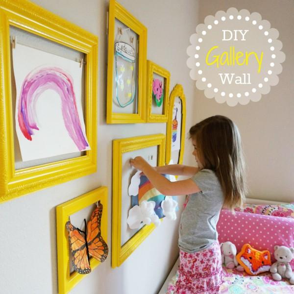 Kids Art Gallery Wall The Caterpillar Years