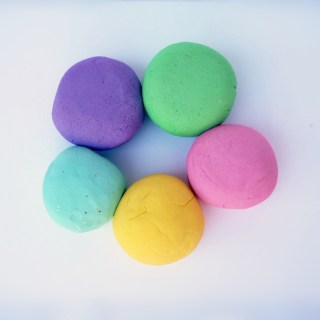 Light and fluffy play dough!