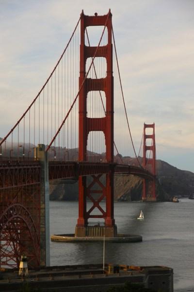 San Francisco Golden Gate Bridge golden hour