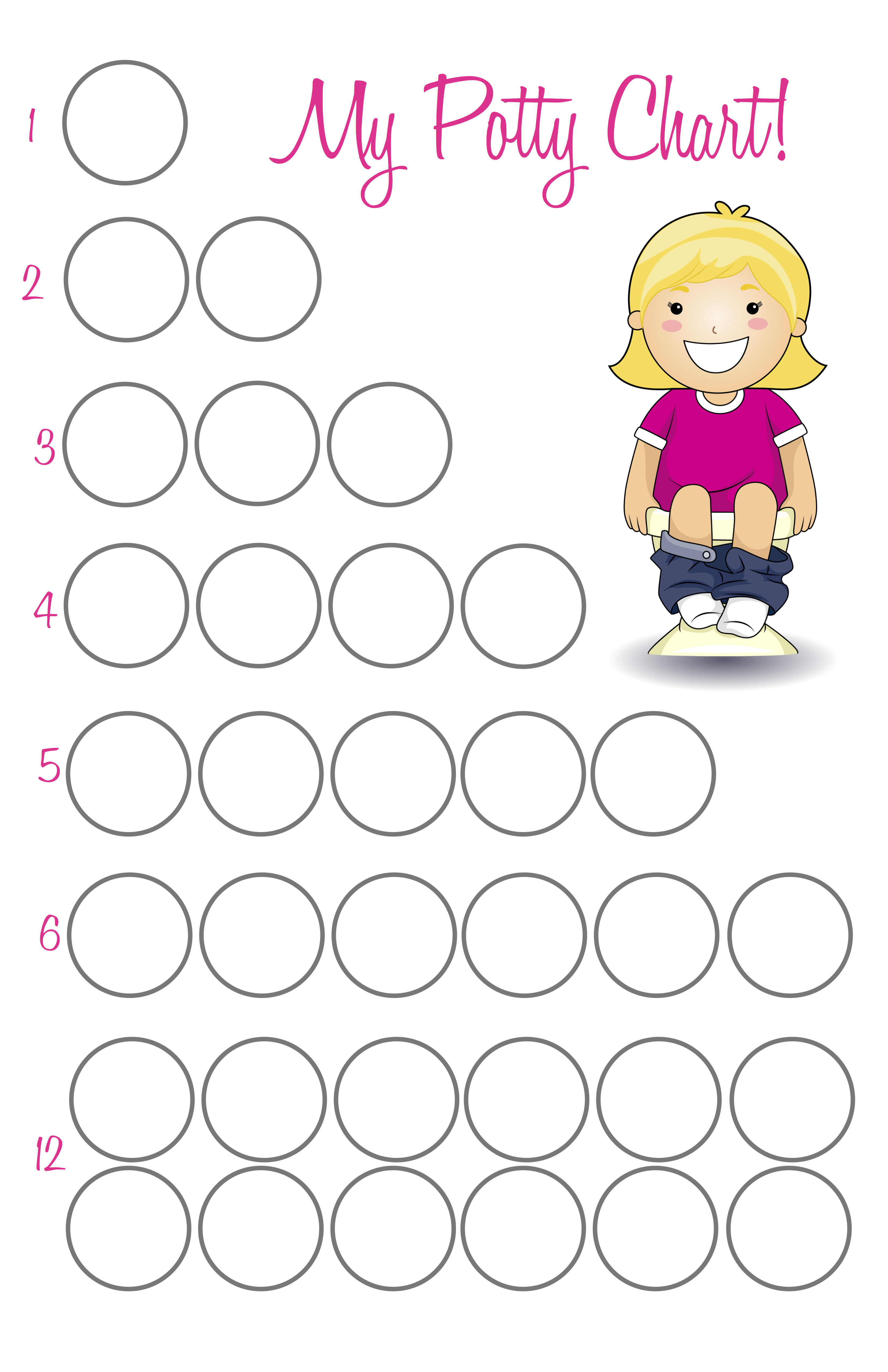 photo relating to Free Printable Potty Chart called Potty Working out Cadence - The Caterpillar Yrs