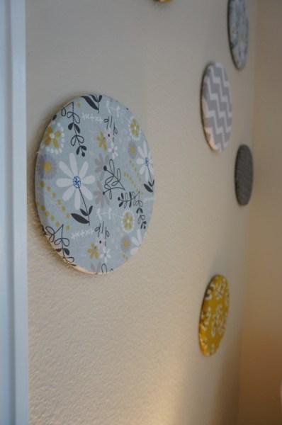 DIY cork board circles - mid-century modern