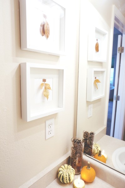 Fall Decor Powder Room - 06
