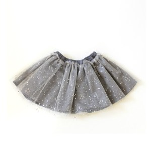 grey teardrop skirt