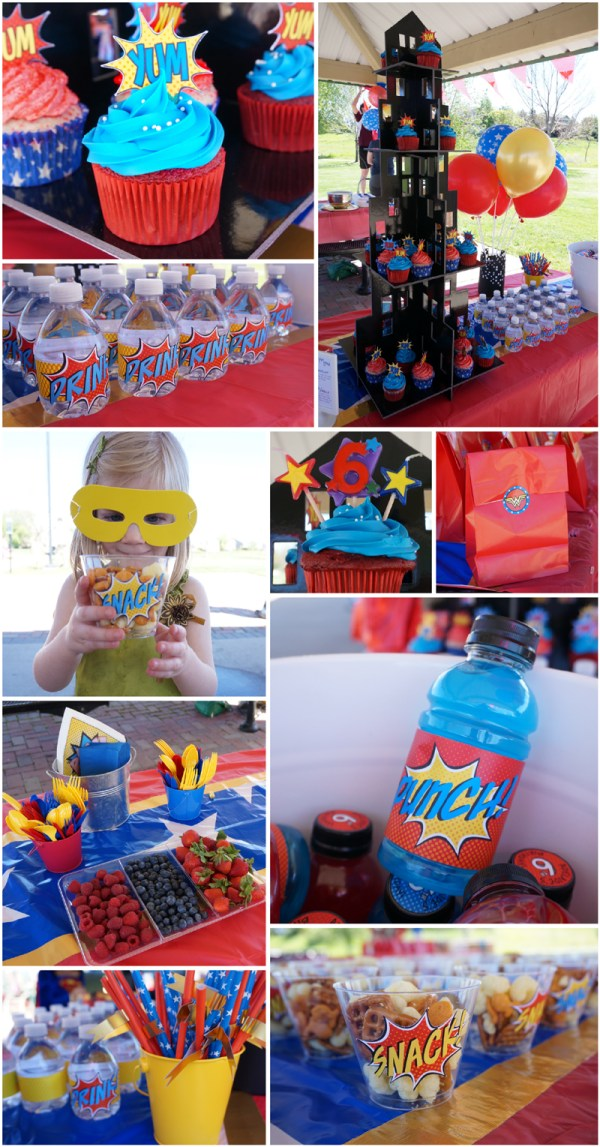 Wonder woman party the caterpillar years for Home decorations adelaide