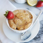 Strawberry Peach Breakfast Cobbler