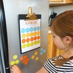 Printable, Magnetic, School Lunch Planner