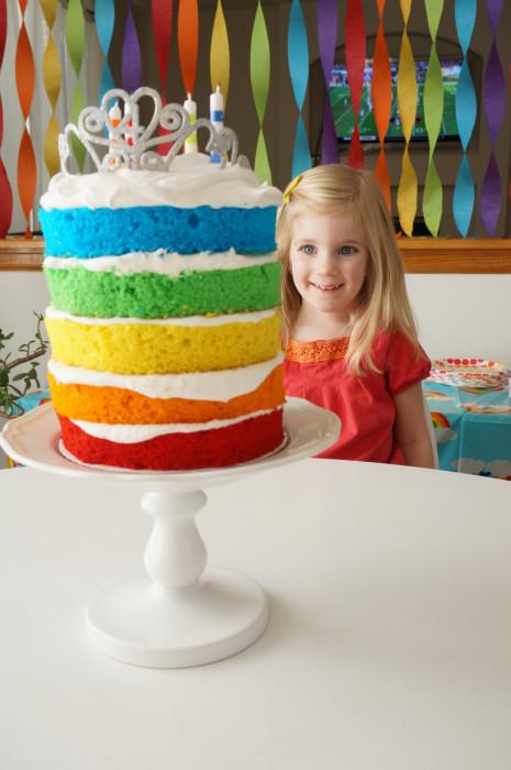 Pillsbury Rainbow Cake