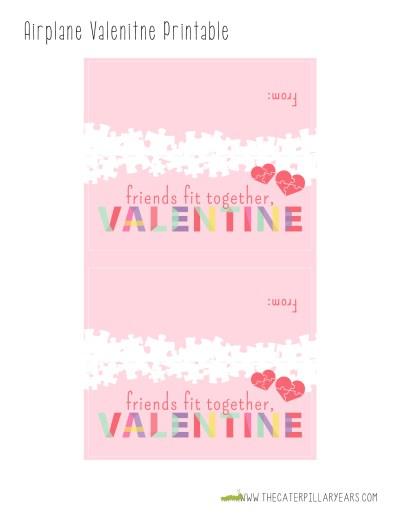 free printable valentine bag topper puzzle valentine