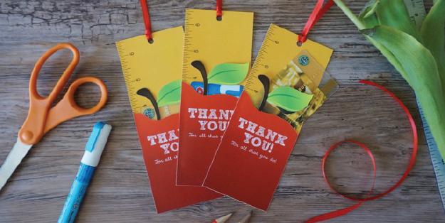 Free Printable Teacher Gift Card Holder Bookmark