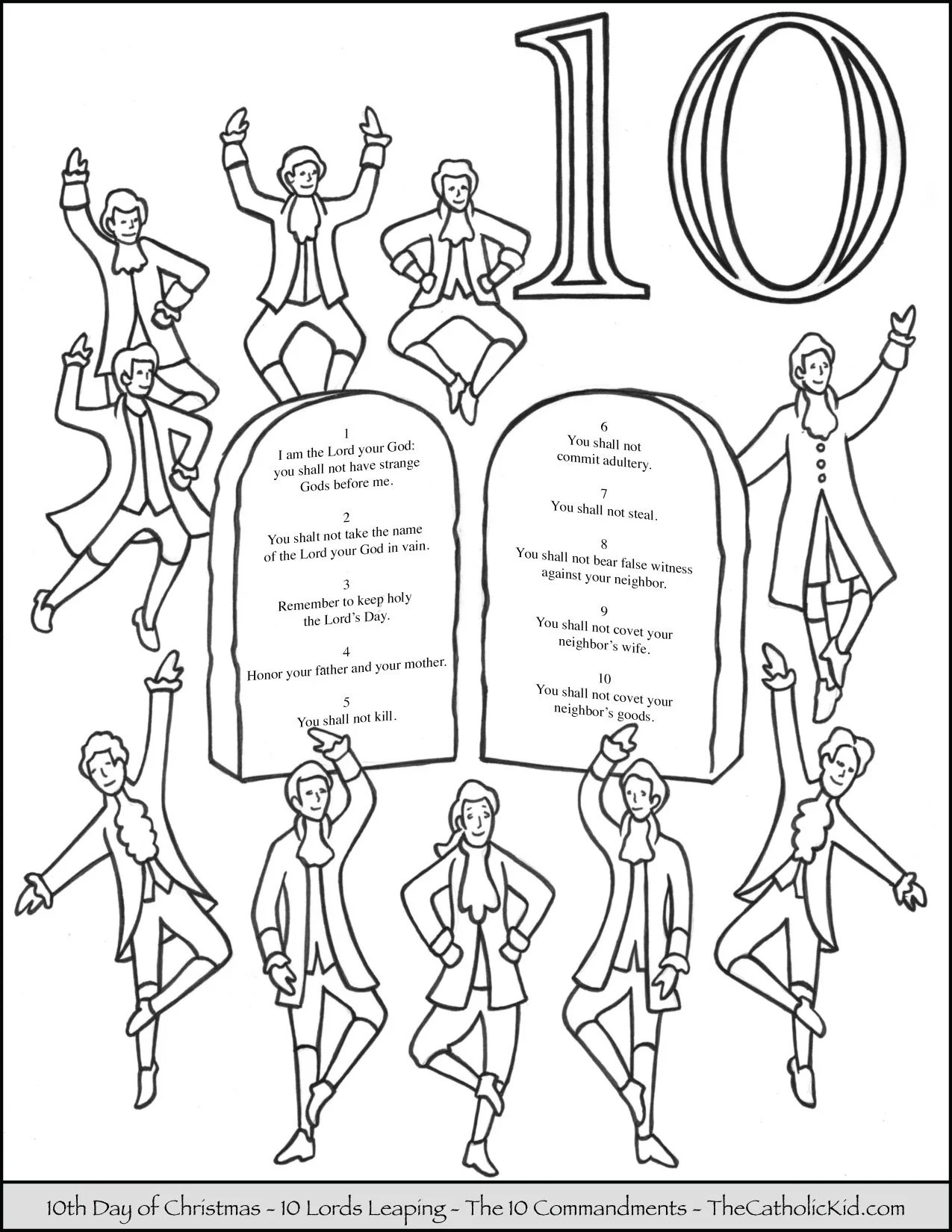 10 Lords A Leaping Coloring Page Pages Sketch Coloring Page
