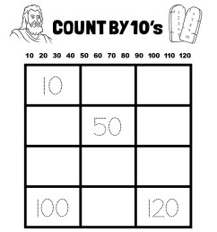 Count By 10's - 1st Grade Math Catholic Worksheet - TheCatholicKid.com [ 1650 x 1275 Pixel ]
