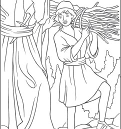 Abraham and Isaac Coloring Page - TheCatholicKid.com [ 1650 x 1275 Pixel ]