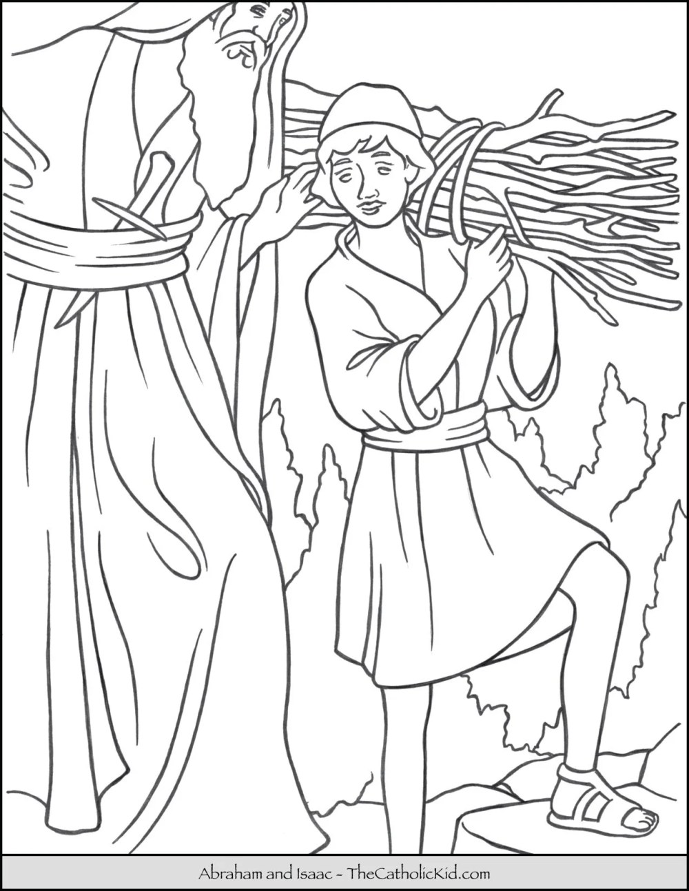 medium resolution of Abraham and Isaac Coloring Page - TheCatholicKid.com