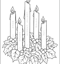 Advent Wreath Coloring Page With Candle Names \u0026 Meanings -  TheCatholicKid.com [ 1618 x 1250 Pixel ]