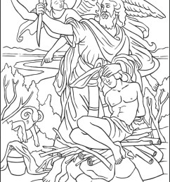 Abraham is Tested - Sacrifice Isaac Coloring Page - TheCatholicKid.com [ 1650 x 1275 Pixel ]